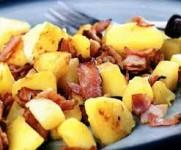Картофель фри с арахисом и беконом в Tefal Actifry